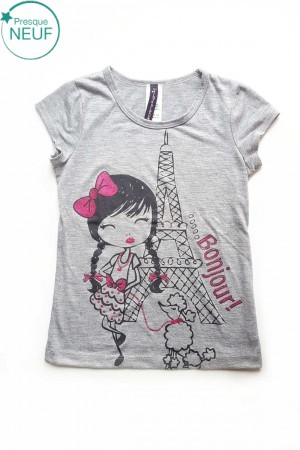 T-Shirt Fille 6ans Lilly Blue